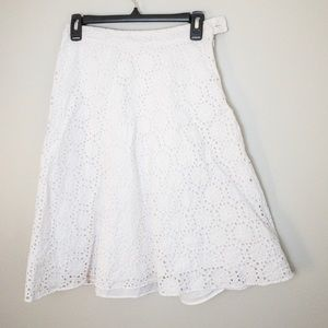 Banana republic white eyelet skirt size 0